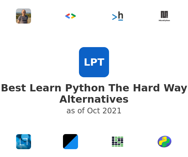 Best Learn Python The Hard Way Alternatives
