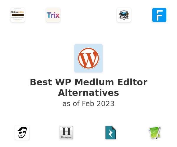 Best WP Medium Editor Alternatives