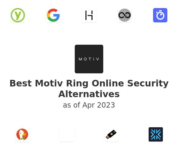 Best Motiv Ring Online Security Alternatives