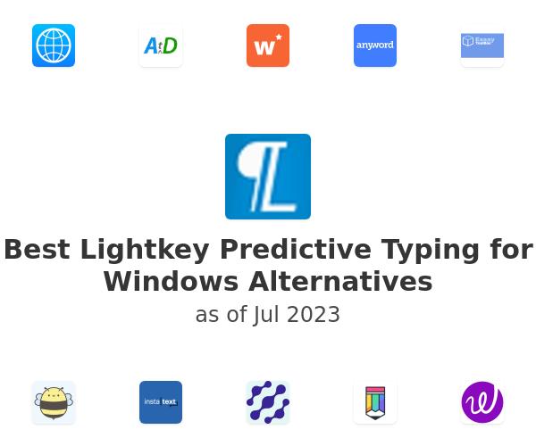 Best Lightkey Predictive Typing for Windows Alternatives