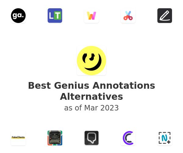Best Genius Annotations Alternatives