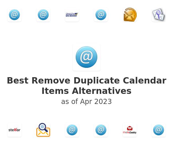 Best Remove Duplicate Calendar Items Alternatives
