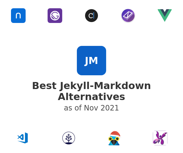 Best Jekyll-Markdown Alternatives