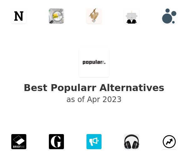 Best Popularr Alternatives