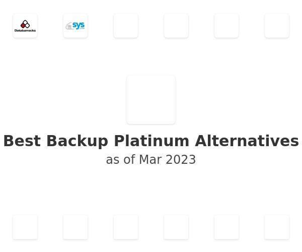 Best Backup Platinum Alternatives