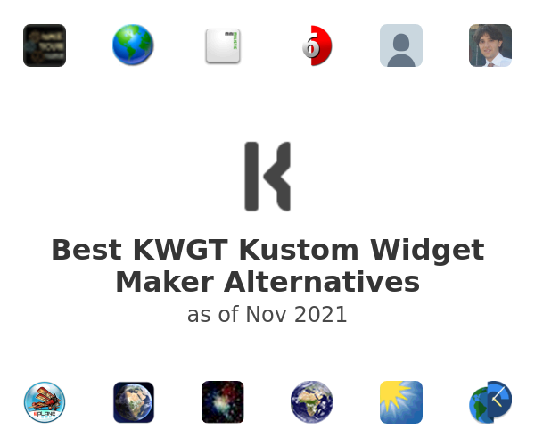 Best KWGT Kustom Widget Maker Alternatives