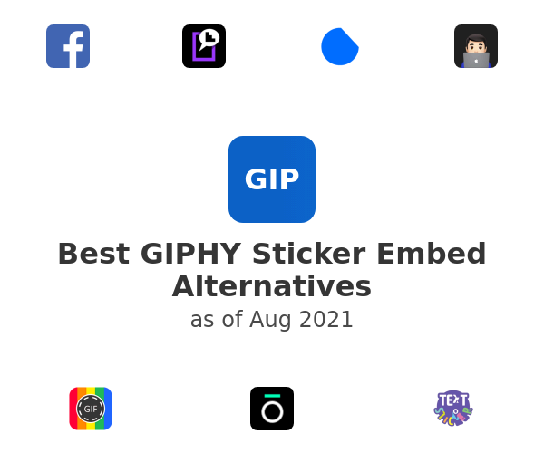 Best GIPHY Sticker Embed Alternatives