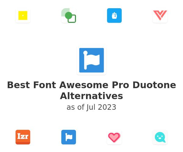 Best Font Awesome Pro Duotone Alternatives