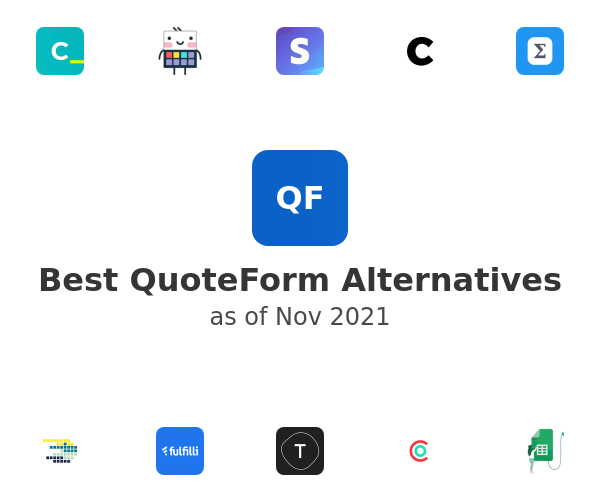 Best QuoteForm Alternatives