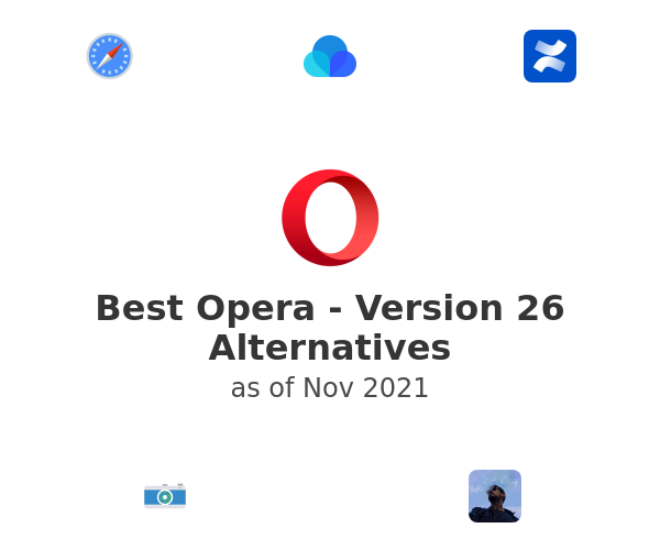 Best Opera - Version 26 Alternatives