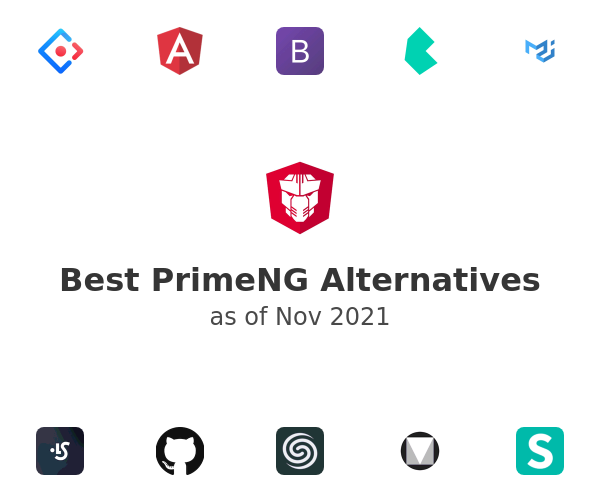Best PrimeNG Alternatives