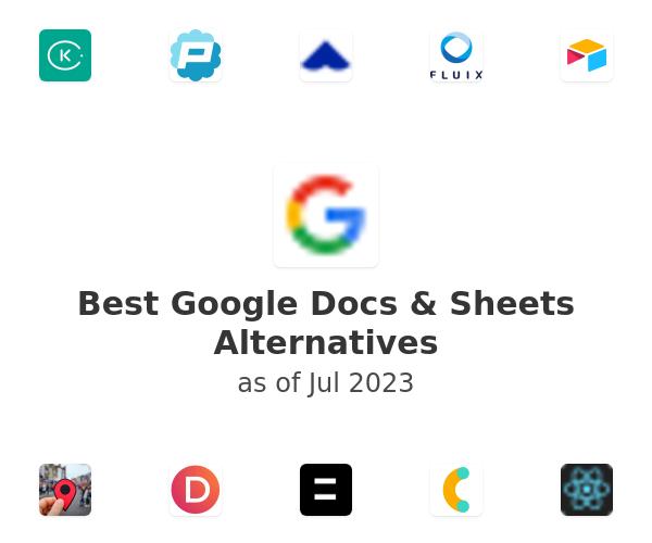 Best Google Docs & Sheets Alternatives