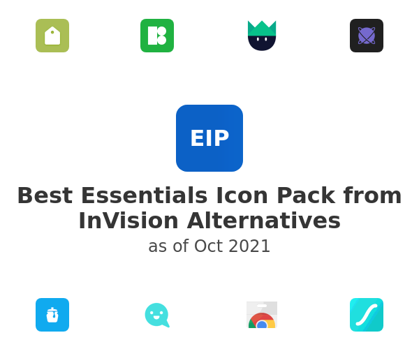 Best Essentials Icon Pack from InVision Alternatives