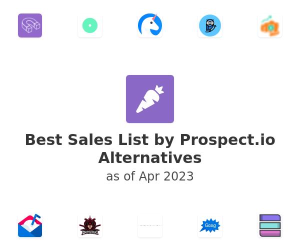 Best Sales List by Prospect.io Alternatives