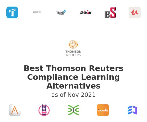 Best Thomson Reuters Compliance Learning Alternatives