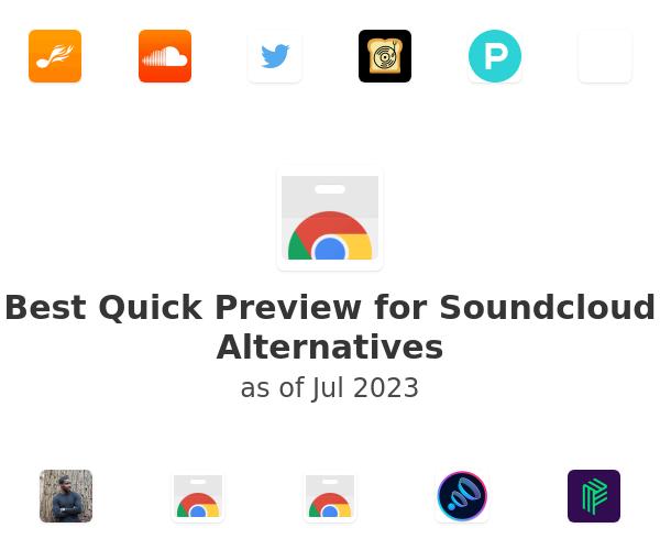 Best Quick Preview for Soundcloud Alternatives
