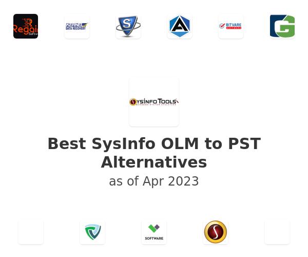 Best SysInfo OLM to PST Alternatives