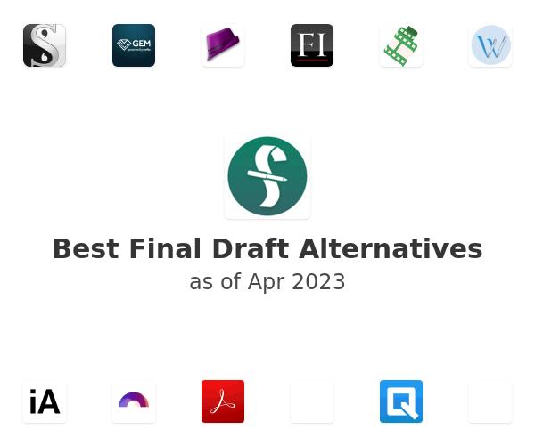 Best Final Draft Alternatives
