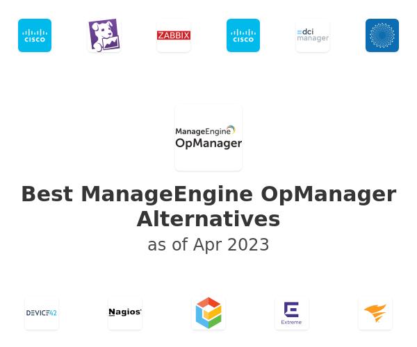 Best ManageEngine OpManager Alternatives