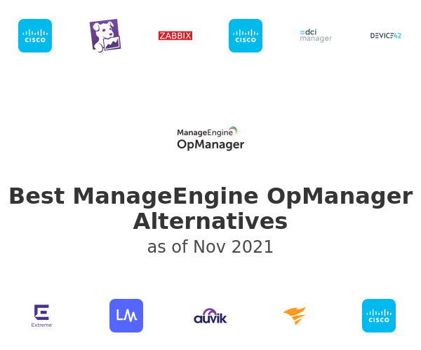 Best ManageEngine OpManager Alternatives