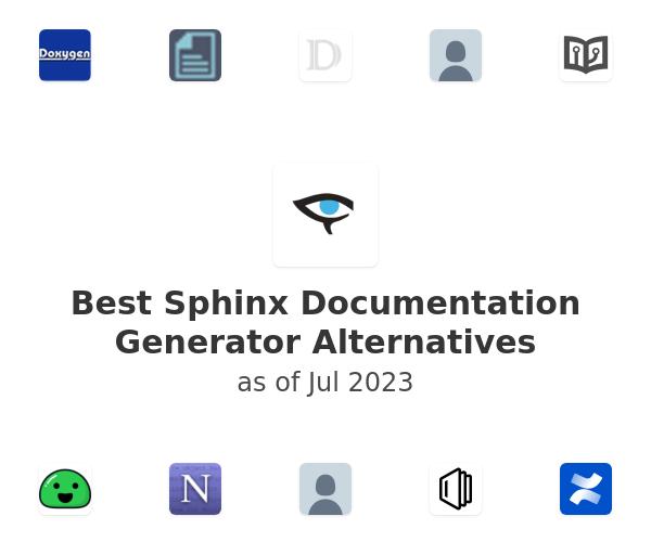Best Sphinx Documentation Generator Alternatives