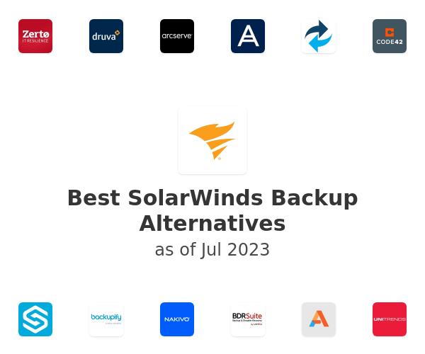 Best SolarWinds Backup Alternatives