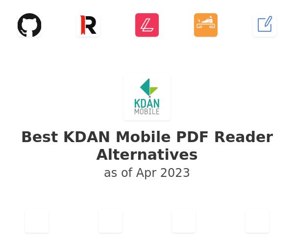 Best KDAN Mobile PDF Reader Alternatives