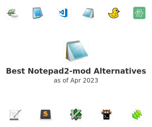 Best Notepad2-mod Alternatives