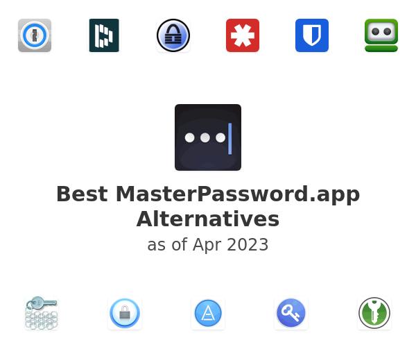 Best MasterPassword.app Alternatives