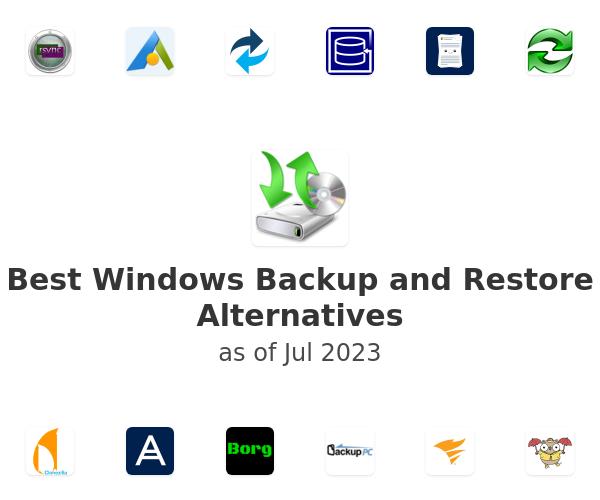 Best Windows Backup and Restore Alternatives