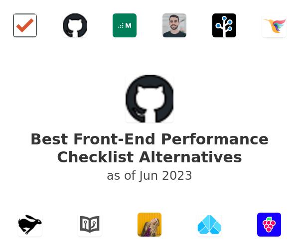 Best Front-End Performance Checklist Alternatives