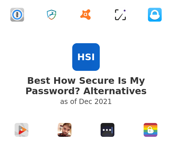 Best How Secure Is My Password? Alternatives