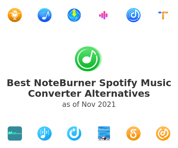Best NoteBurner Spotify Music Converter Alternatives