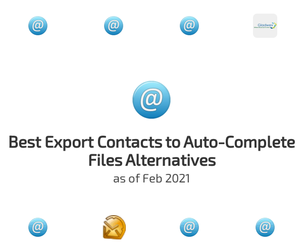 Best Export Contacts to Auto-Complete Files Alternatives