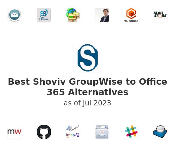 Best Shoviv GroupWise to Office 365 Alternatives