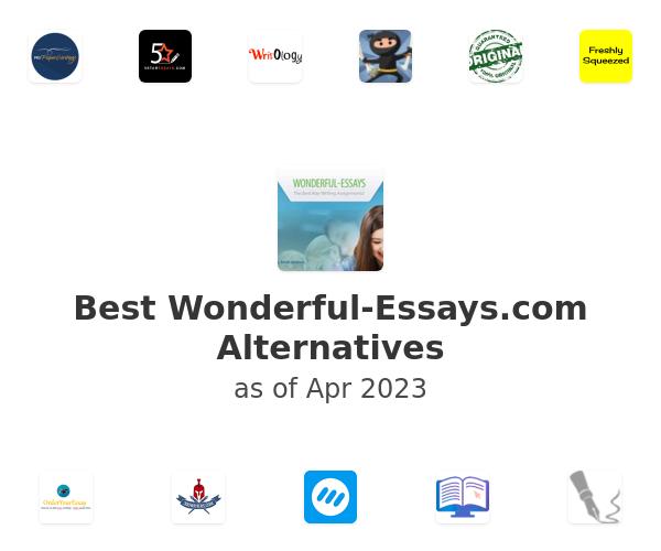 Best Wonderful-Essays.com Alternatives