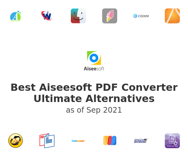 Best Aiseesoft PDF Converter Ultimate Alternatives