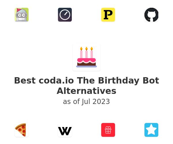 Best The Birthday Bot Alternatives