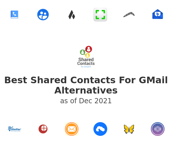 Best Shared Contacts For GMail Alternatives