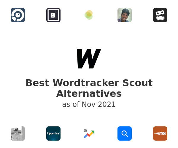 Best Wordtracker Scout Alternatives