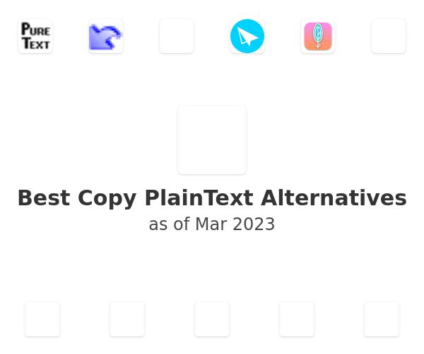 Best Copy PlainText Alternatives