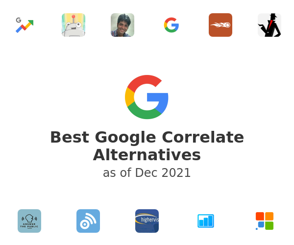 Best Google Correlate Alternatives
