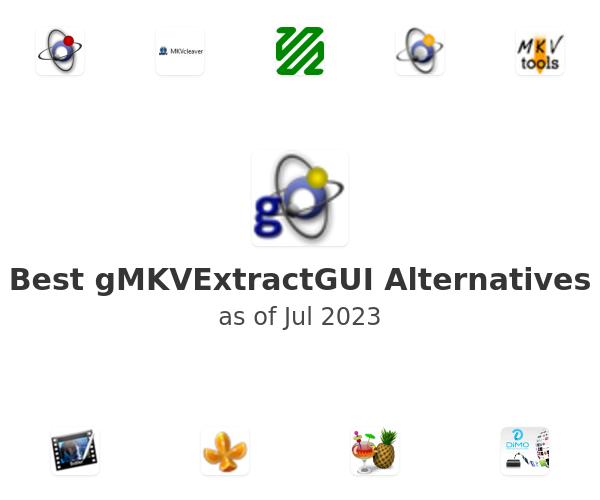Best gMKVExtractGUI Alternatives