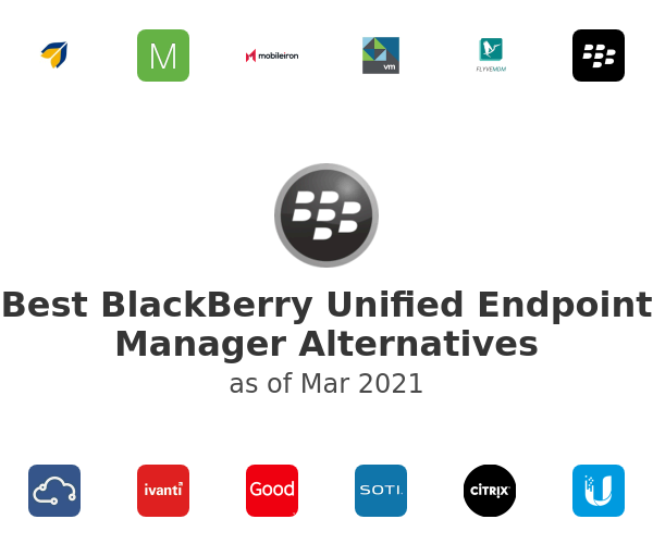 Best BlackBerry Unified Endpoint Manager Alternatives