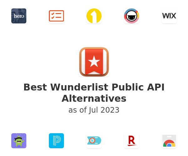 Best Wunderlist Public API Alternatives