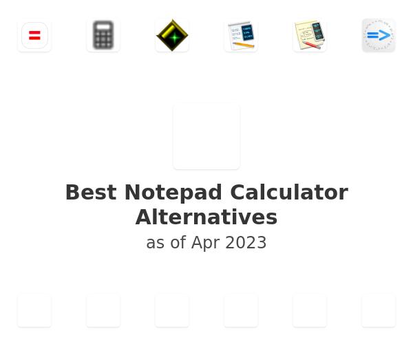 Best Notepad Calculator Alternatives
