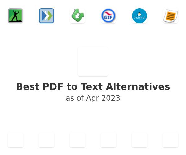 Best PDF to Text Alternatives
