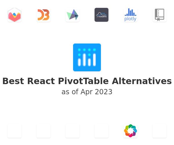Best React PivotTable Alternatives