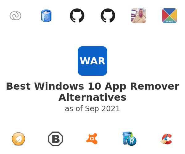 Best Windows 10 App Remover Alternatives