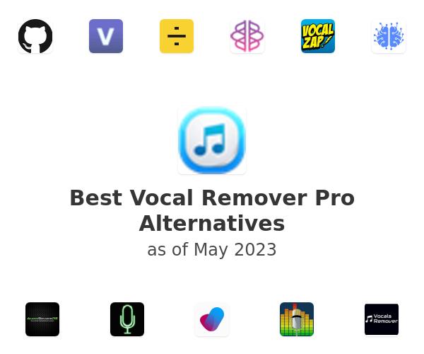 Best Vocal Remover Pro Alternatives